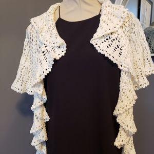 Betsey Johnson Crocheted Cardigan EUC